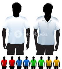 men u0027s t shirt and polo shirt design template with black body