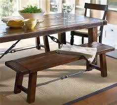 wooden table and bench dining table with bench and chairs treenovation regarding kitchen
