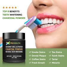 amazon com p u0026 j health teeth whitening coconut activated