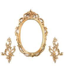 vintage syroco wood syracuse ornamental wall mirror and