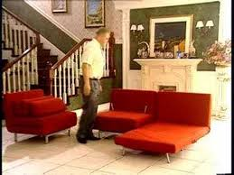 convertible sofas and chairs stella red convertible sofa chair set youtube