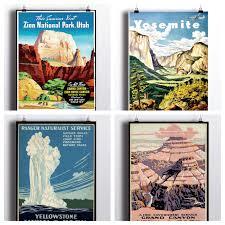 quotes zion national park national park poster set vintage prints yosemite print