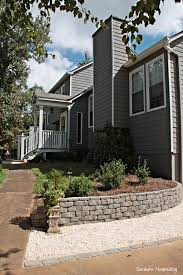 Pea Gravel Front Yard - building a retaining wall diy retaining wall retaining walls