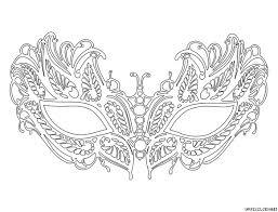 coloriage masque vénitien lafayette grande image masque