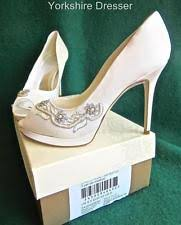 wedding shoes monsoon rainbow club high 3 4 5 in satin bridal shoes ebay
