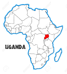 uganda map vector uganda outline inset into a map of africa a white background