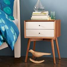 west elm white table mid century nightstand white acorn nightstands mid century