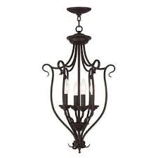 Mini Black Chandelier Livex Lighting Chandeliers Hanging Lights The Home Depot