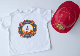 make a diy personalized fireman iron on t shirt for a firefighter