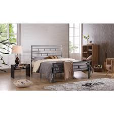 bed frame headboards footboards bedroom furniture the home grey queen platform bed