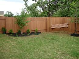 Exterior Decorative Wooden Fence Panels With Brown Color Also