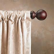 168 Inch Curtain Rod 1 3 8 Inch Single Wood Curtain Rod Sets U2013 Continental Window Fashions