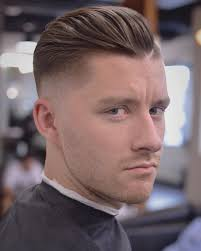 Classic Hairstyle Men by Loose Textured Skin Fade Pompadour With A Shaved In Part Classic