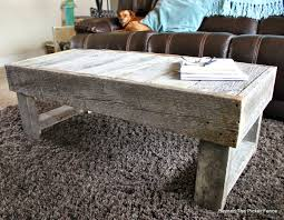 beyond the picket fence barn wood coffee table and