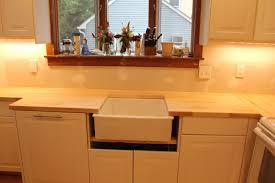 Undermount Sink In Butcher Block Countertop by Ikea Kitchen Newjersey Oldhouse