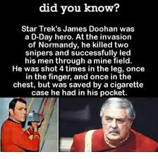 D Day Meme - did you know star trek s james doohan was a d day hero at the