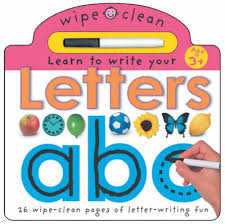 learn to write your letters wipe clean write and learn amazon