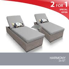 Dock 86 Patio Furniture Chaise Lounge Chairs Gray Sears