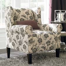 contemporary style living room with upholstered accent chair and