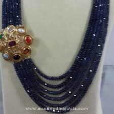 multi layered beaded necklace images Beaded necklace with side locket from etash diamond south india jpg