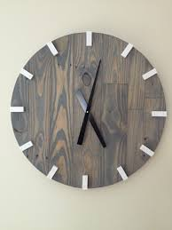 large modern wood clock pallet wood clock reclaimed wood clock