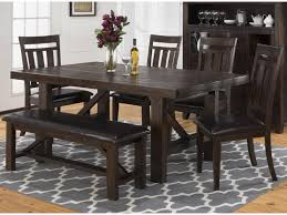 Dining Room Sets With Bench Jofran Kona Grove Dining Table U0026 6 Upholstered Side Chairs Bench