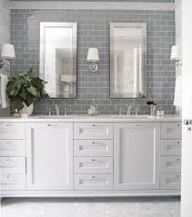 Gray And White Bathroom - gray subway tile bathroom bathroom traditional with architecture