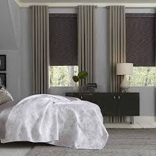 Roller Shades With Curtains Signature Natural Blackout Roller Shade Blinds Com
