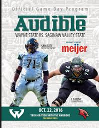 audible wayne state u0027s official football game program nov 12