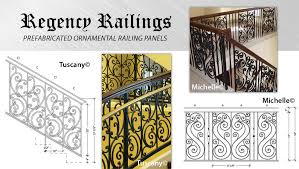 regency railing ornamental iron railing