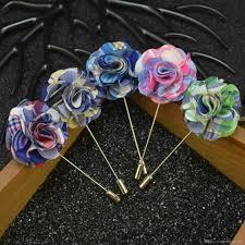 Boutineer Flowers Price Cheap Fabric Flower Brooch Pins Handmade Boutonniere Sick