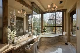 Rustic Tile Bathroom - crystal wall sconce bathroom rustic with bathroom bathroom mirror