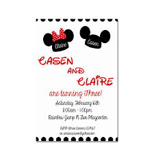 mickey and minnie mouse party twin first birthday twin