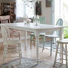 shabby chic style dining table living room ideas