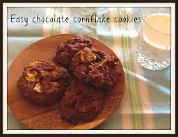 simple chocolate cornflake biscuits cookies afghan biscuits