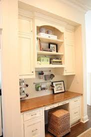 kitchen office ideas white wood office nook traditional home office other