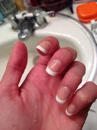 kiss everlasting french nails real short length salon square shape