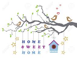 Sweet House Home Sweet Home Moving In New House Greeting Card Royalty Free