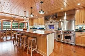 best flooring for honey oak kitchen cabinets what flooring goes with hickory cabinets designing idea