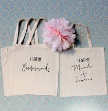 bridesmaids bags set of 3 bridesmaid tote bags and 1 of honor