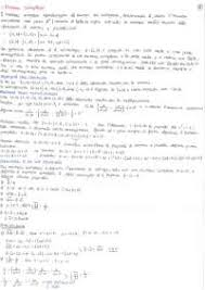 dispense analisi 1 appunti complementi di analisi matematica docsity