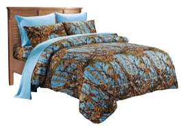 Camo Bedding Sets Queen Camouflage Bedding 7 Pc Camo Comforter And Teal Sheet Set Queen