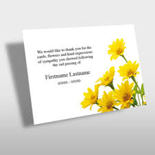 funeral thank you cards funeral thank you cards
