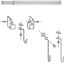 Kirsch Drapery Hardware Parts Kirsch Utility Rod 66