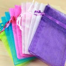 small organza bags 10 plain pull tie organza bags wedding favors jewellery small gift