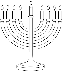 hanukkah candles colors hanukkah menorah outline free clip