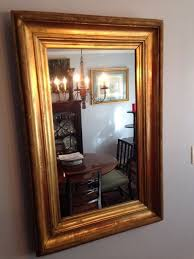 Period Bathroom Mirrors by Large Antique Period Gilt Oncarved Wood Frame Mirror Retangle