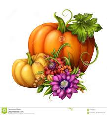 pumpkin flower clipart collection