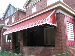Century Awnings Step Down Aluminum Awning With Scalloped Edges And Aluminum Side