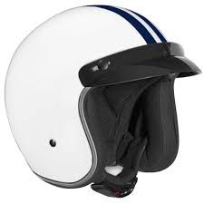 motorcycle protective gear vega x 380 white with blue stripe helmet jafrum